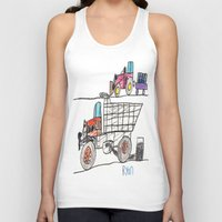 pocket fuel Tank Tops featuring Taking on Fuel by Ryan van Gogh