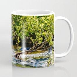 Beautiful river running over rocks Coffee Mug