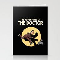 tintin Stationery Cards featuring The Adventures Of The Doctor by Deborah Picher Illustrations