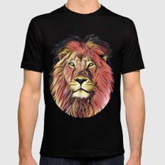Fire Lion Mens Fitted Tee MEDIUM Black