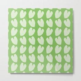Alocasia Leaf Pattern Metal Print