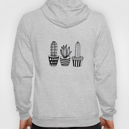 Cactus Plant monochrome cacti nature greyscale illustration floral succulent leaf home wall decor Hoody