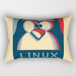 Linux tux penguin obama poster logo Rectangular Pillow