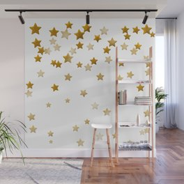 Falling Stars - Gold Marble Wall Mural