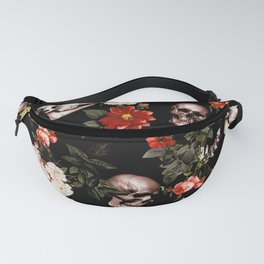 Floral and Skull Dark Pattern Fanny Pack