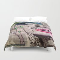 newspaper Duvet Covers featuring NewsPaper  by cchelle135