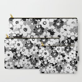 Fashion Floral design Black&White print Carry-All Pouch