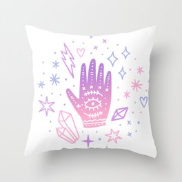Magic hand Throw Pillow
