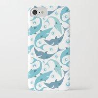 sharks iPhone & iPod Cases featuring Sharks by Julia Badeeva