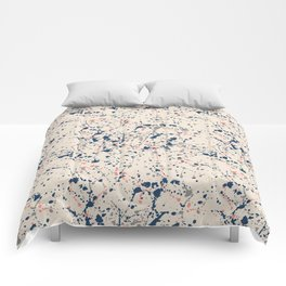 Cream Splatter Comforters