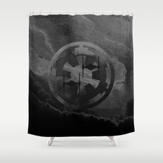Star Wars Imperial Tie Fighters in Gray Shower Curtain