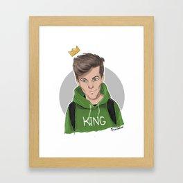 King Louis Framed Art Print