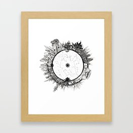 Cosmic Wheel Framed Art Print