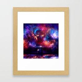 tardis dr who Framed Art Print