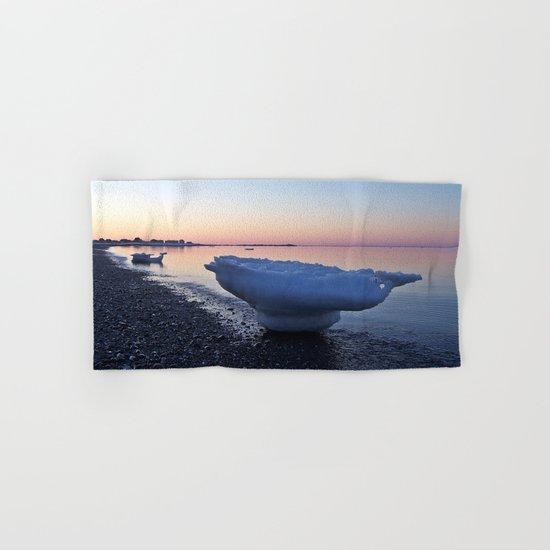 Icebergs on the Beach Hand & Bath Towel
