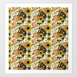 Sweet Honey Bees Art Print