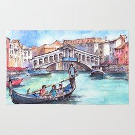 Venice ink & watercolor illustration Rug