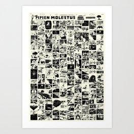Pipien Molestus abnormal edition Art Print