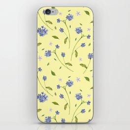 Botanical Print (Hound's Tongue)  iPhone Skin