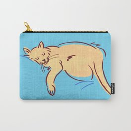 Sleepy Cat Position Carry-All Pouch