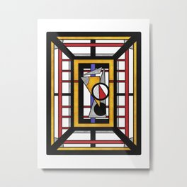 Geo 34 = Abstract Geometric Design Metal Print