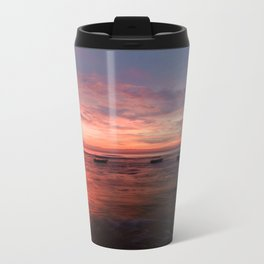 Tropical Sunset Metal Travel Mug