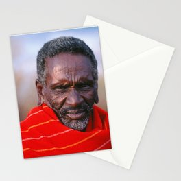 African Maasai Elder Stationery Cards