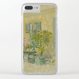 Exterior of a Restaurant in Asnières Clear iPhone Case