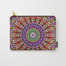 Petal Burst Mandala Carry-All Pouch