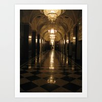 blair waldorf Art Prints featuring Waldorf Astoria  by Melia Metikos