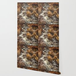 Golden Falls Wallpaper