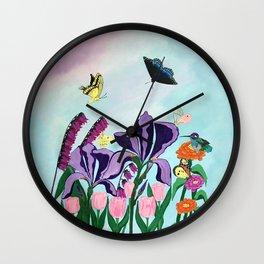 Garden of Heavenly Delight Wall Clock