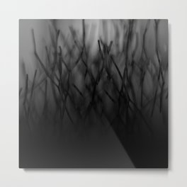 Abstract black and white gradient | photography Metal Print