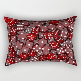 Red dice Rectangular Pillow