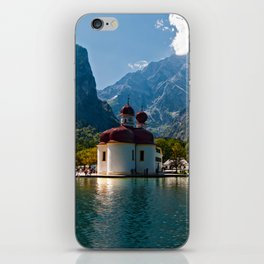 Outdoors, Church, Alps Mountains, Koenigssee Lake iPhone Skin