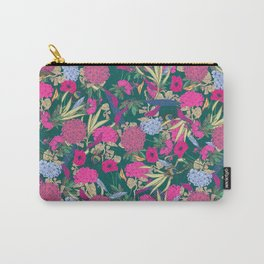 Flower Pattern Color Carry-All Pouch