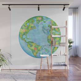 Floral Earth Wall Mural