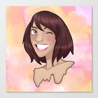 risa rodil Canvas Prints featuring Risa by Laura Monaghan Illustration