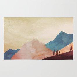 Abstract Mountainscape  Rug