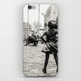 Fearless Girl & Bull - NYC iPhone Skin
