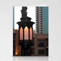 arab Stationery Cards featuring Dubai - Lamp outside Burj Al Arab by gdesai