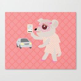 Uber dog Canvas Print