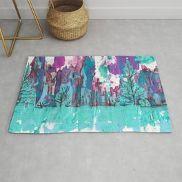 Sunset Cliffs and Waterfalls Rug
