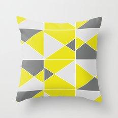 Yellow Grey Throw Pillow