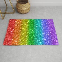 Glittery Rainbow Rug