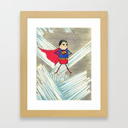 """Members"" of the Justice League: Superman Framed Art Print"
