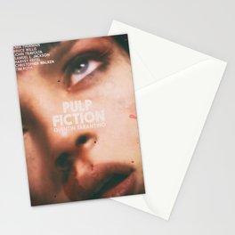 Pulp Fiction, Quentin Tarantino, alternative movie poster, Uma Thurman, Mia Wallace Stationery Cards