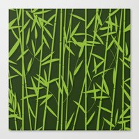 bamboo Canvas Prints featuring BAMBOO by Rceeh