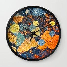 Lichen Art Wall Clock