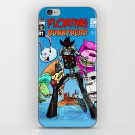Floating BunnyHead #1 Cover iPhone Skin